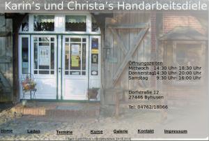 Bildschirmfoto der alten Webseite